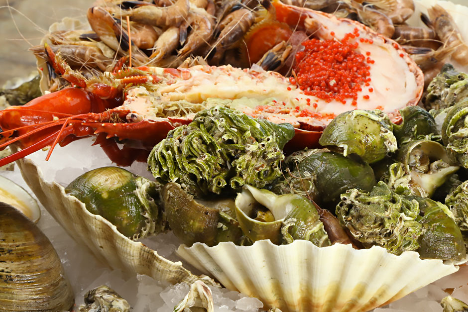 illustration de l'article sur des recttes de fruits de mer étrangeres