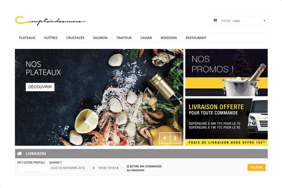 livraison fruits de mer à Paris ce que propose comptoir des mers